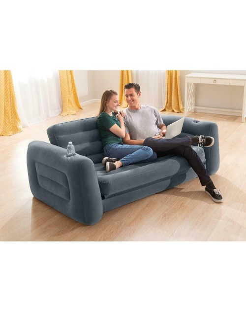 Intex 66552 Inflatable 2-Seater Sofa Bed King Size 80X88X26Inch