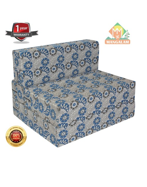 PU Foam Polycotton Washable Cover 1 Seater Sofa/Bed for 1 Person (3 X 6 Inch)
