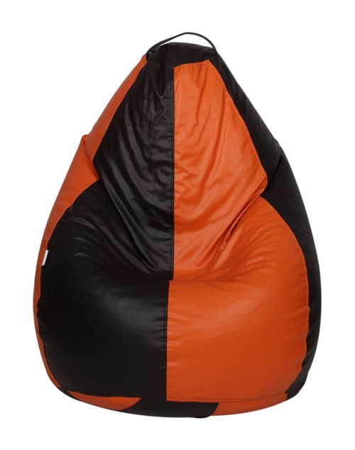 3XL Black/ Orange Nudge Classic Bean Bag