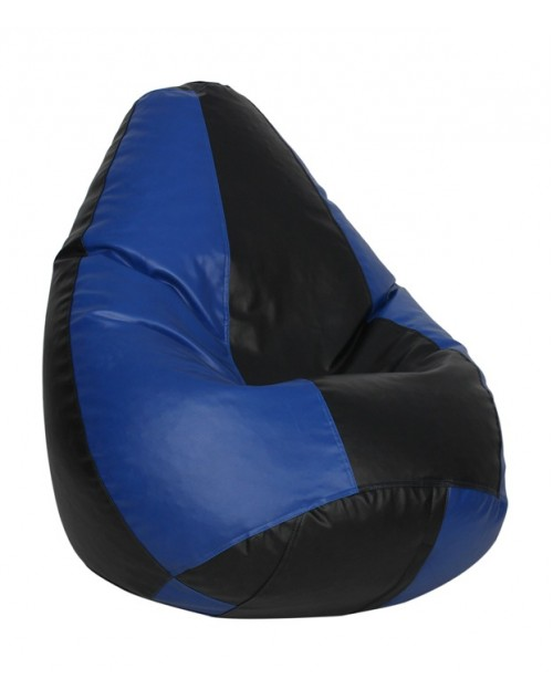Black/ Blue Nudge Classic Bean Bag 3XL