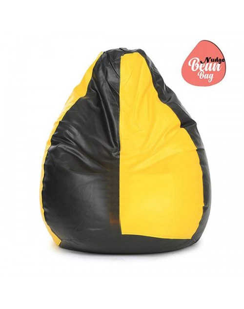 3XL Yellow &  Black Bean Bag Chair