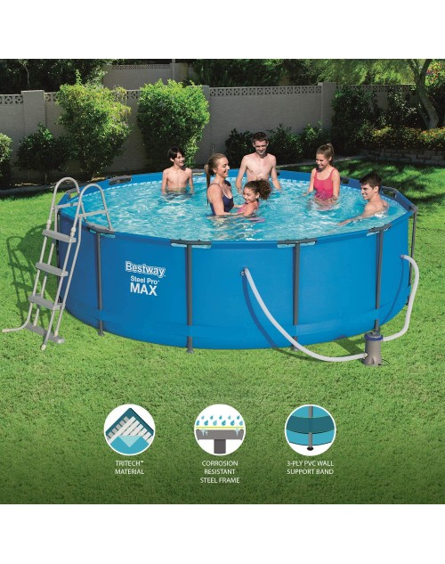 "Bestway Steel Pro MAX™ 12' x 39.5""/ 12 feet x 39.5"" Pool Set with Filter"