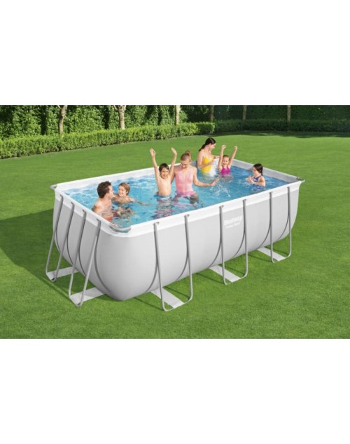 Bestway 56456 Power Steel Above Ground Frame Pool Rectangular 4.12m x 2.01m x 1.22m