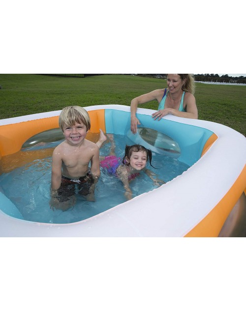 "Bestway 51132 Square Window Game Pool  66"" X 66""  X 20"""