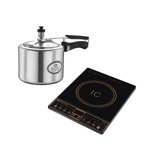 Bajaj icx 6 Wov Plus 1600 watt and bajaj 3l cooker