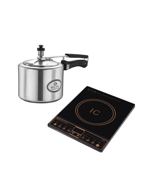 Bajaj icx 6 Wov Plus 1600 watt and bajaj 3l cooker