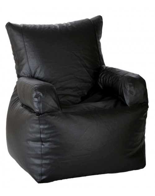 Nudge Arm Chair Bean Bag Chair Black