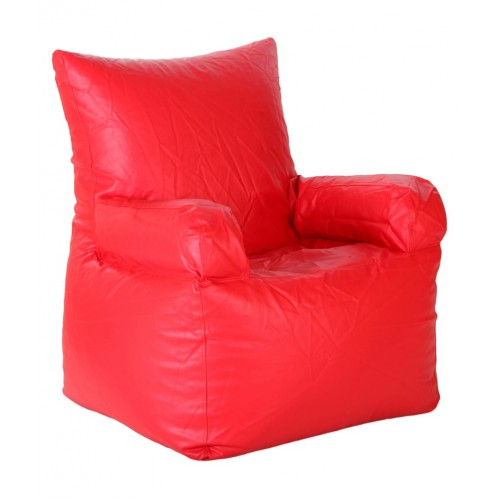 Nudge Arm Bean Bag Sofa Chair Red