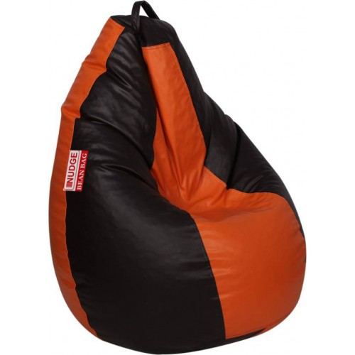 Orange and Black Bean Bag XXL