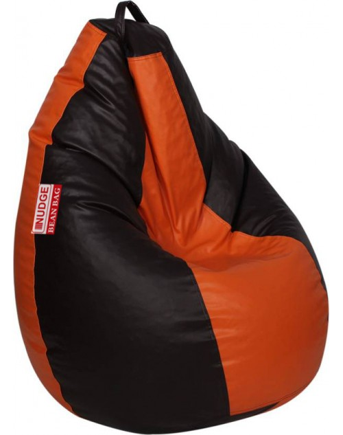 NUDGE Orange & Black Bean Bag 3XL