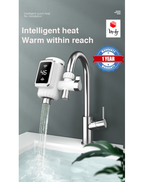 Nudge No Installation Need Faucet Electrical Instant Hot Water Heating Tap N48