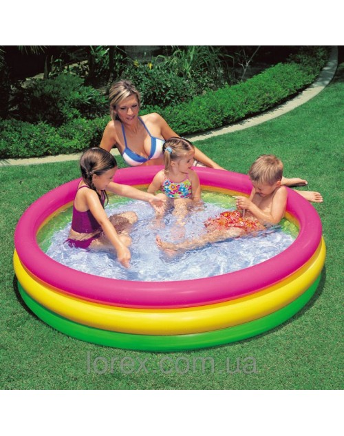 Intex Sunset Glow Three Ring Pool 58""