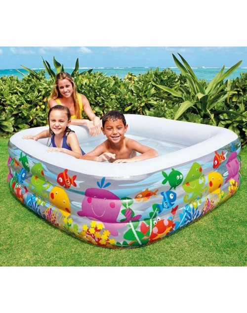 Intex Multicolored Swim Center Square For Kids- 57471