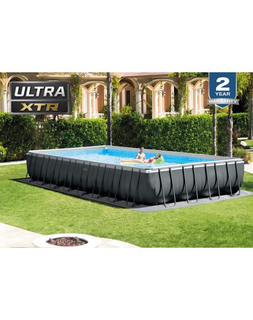 Intex Ultra XTR Frame Rectangular Pool Set with Sand Filter Pump 32ft X 16ft X 52in