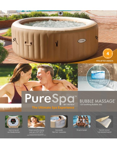 77in X 28in Intex PureSpa Bubble Massage Spa