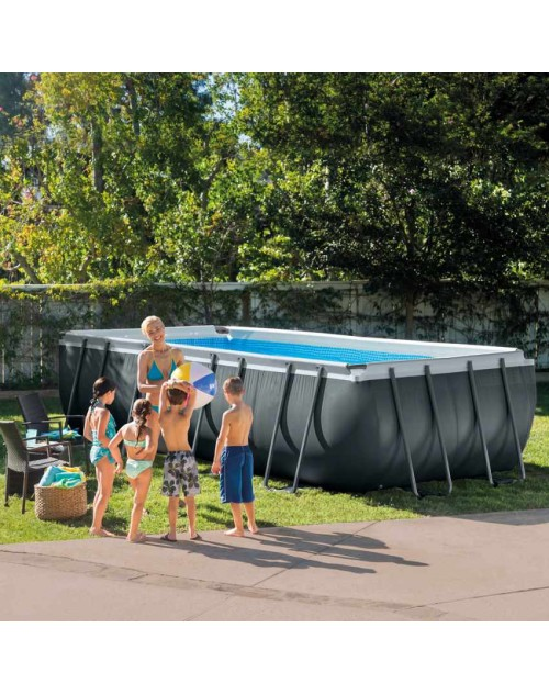 Intex 26356 Rectangular Ultra XTR Frame Pool 18 Ft by 9 Ft