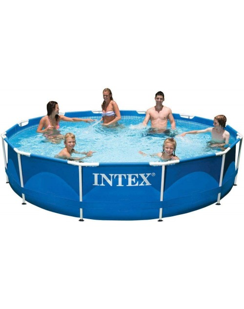 "INTEX 12ft X 30"" in Round Metal Frame Pool"